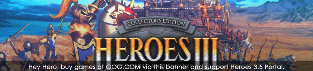 Buy Heroes of Might and Magic games (or any other) on GOG.COM and support Heroes Portal.