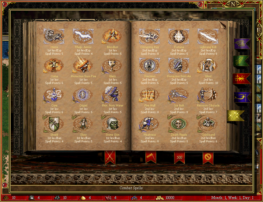 homm3 hd spellbook