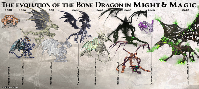 might and magic-bone-dragon-evolution