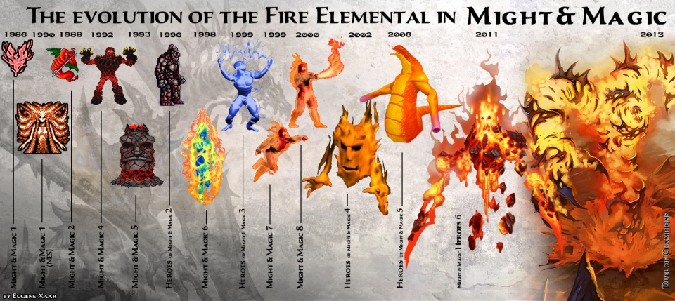 fire-elemental might and magic