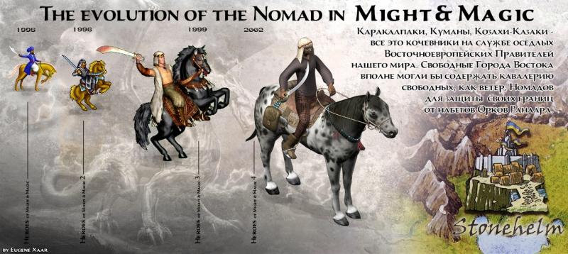 Evolúcia jednotky Nomad vo svete Might & Magic