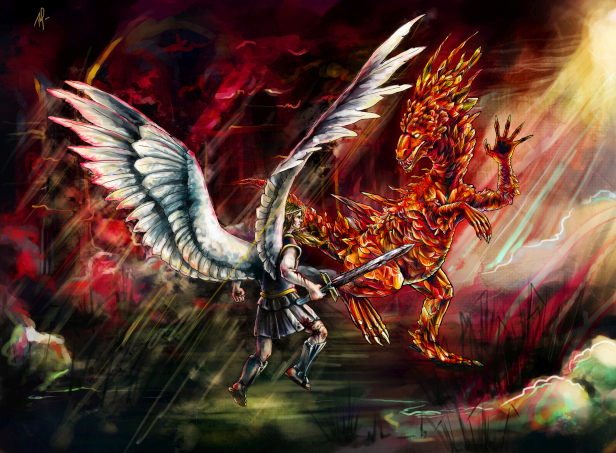 angel_vs_crystal_Dragon_by_tintoad_small