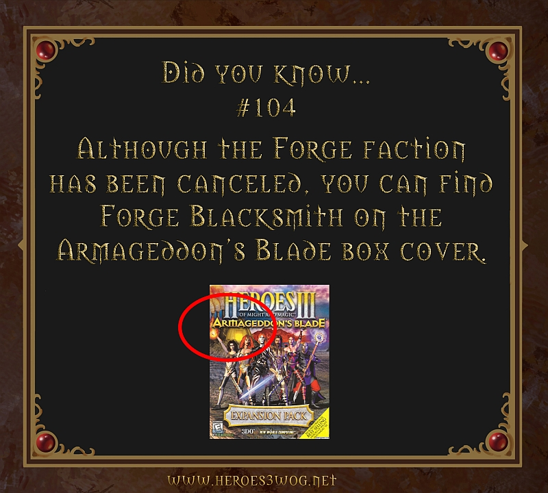 Although the Forge faction has ben canceled, you can find Forge blacksmith on the Armageddons Blade box cover.