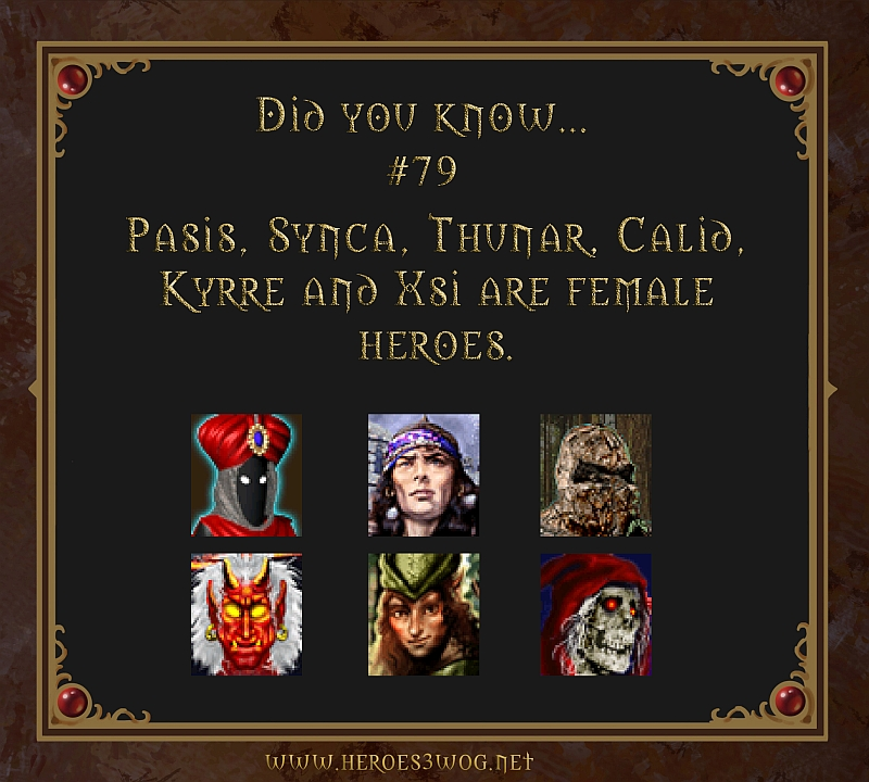#79 Pasis, Synca, Thunar, Calid, Kyrre and Xsi are female heroes.