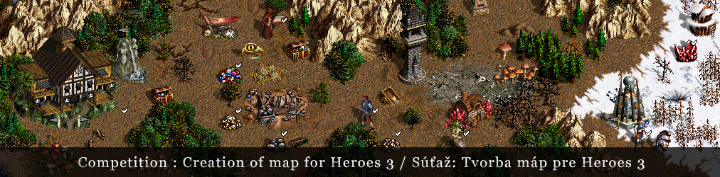 Competition : Creation of map for Heroes 3 in cooperation with GOG.COM