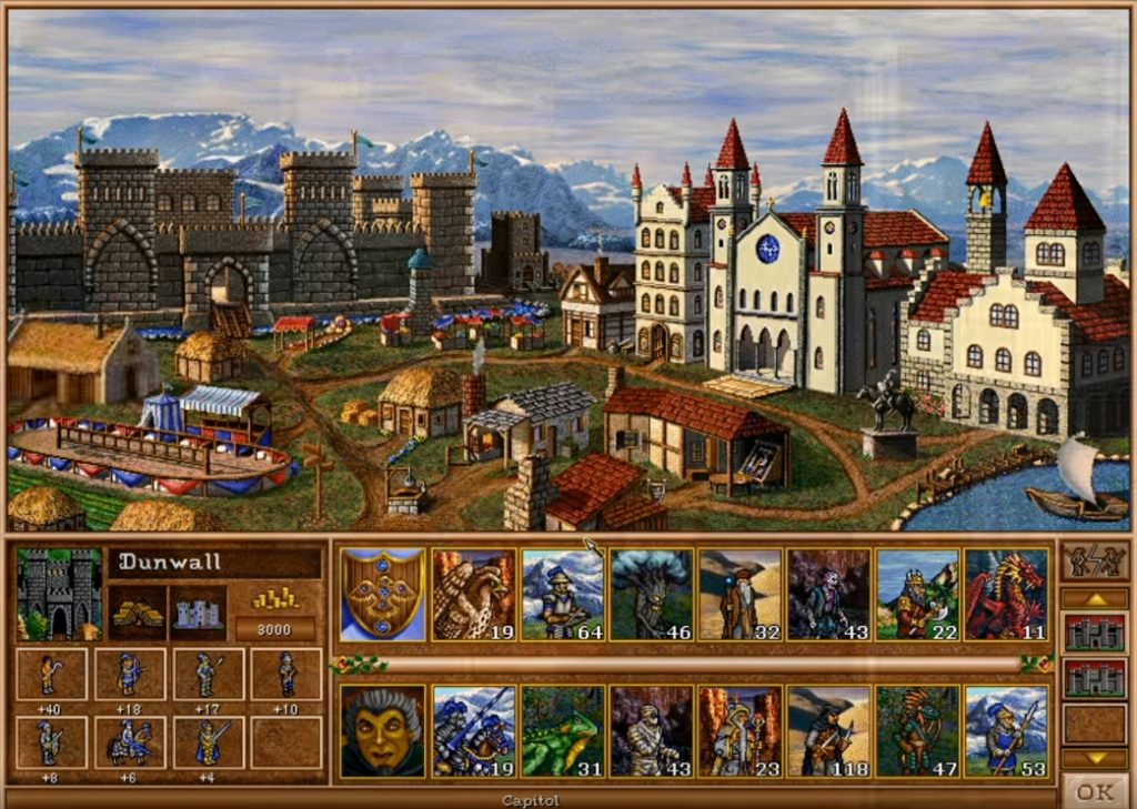 Castle Town screen