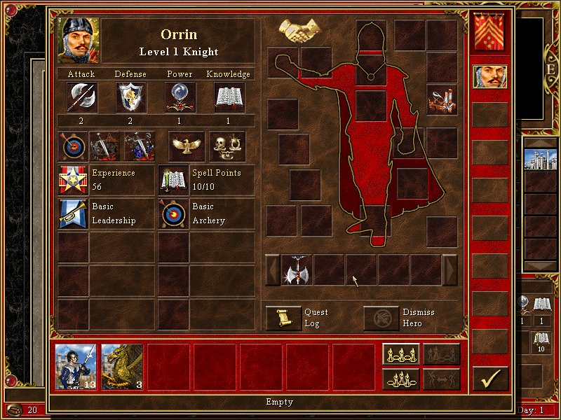 Old hero screen