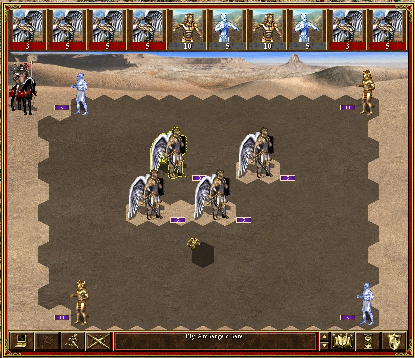 Stone Pyramid battle VCMI mod for Heroes 3