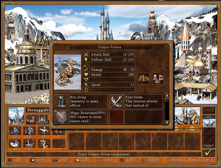heroes_3_dragon_golem_first_Strike
