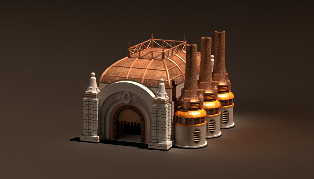 Model of the Blacksmith for the Factory townscreen. By Don_ko