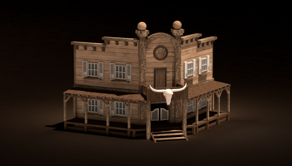Model of the Saloon, 6th tier dwelling, for the Factory townscreen. By Don_ko