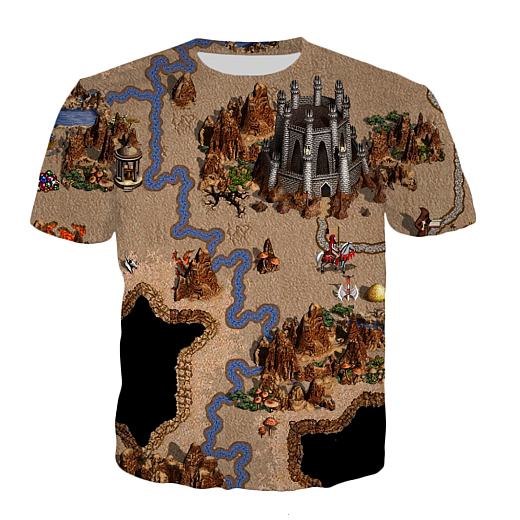T-shirt - Dungeon 3D print (clicking on the image will take you to the store page)