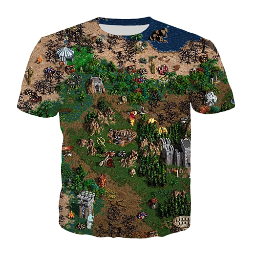 T-shirt - Horn of the Abyss map 3D  (clicking on the image will take you to the store page)