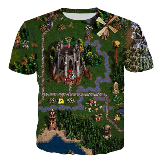 T-shirt - All for One map