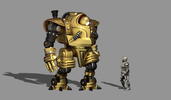 Juggernaut and Steel Golem models. By Dima Gravchenko