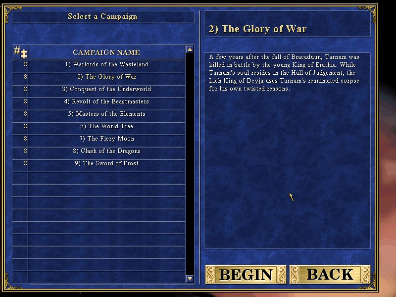 New Campaign - The Glory of War