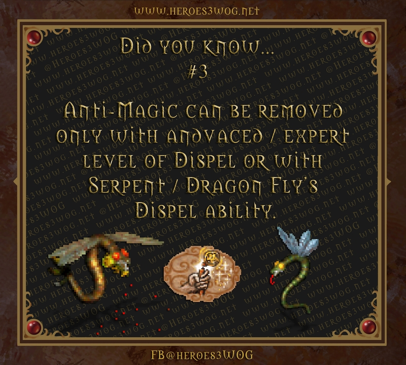 Anti-Magic can be removed only with advanced / expert level of Dispel or with Serpent / Dragon Fly's Dispel ability.