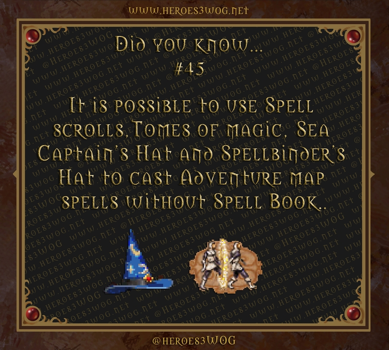 It is possible to use Spell scrolls, Tomes of magic and Spellbinder's Hat to cast Adventure map spells without Spell Book.