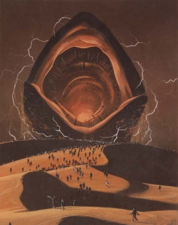 Mythical and fantastic prototypes of the Sandworm: Shai-Hulud from the Dune book series