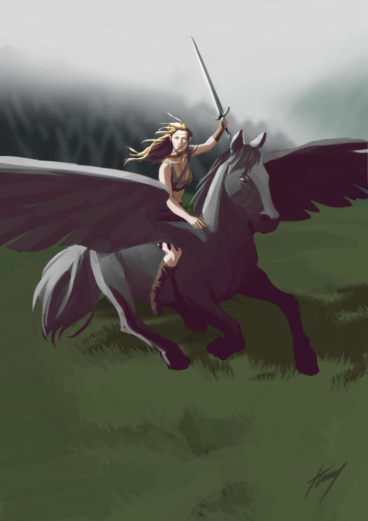 Pegasus art by Tom Albert