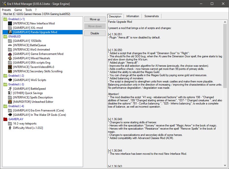 ERA Gaming build v1.36.054 - Mod Manager