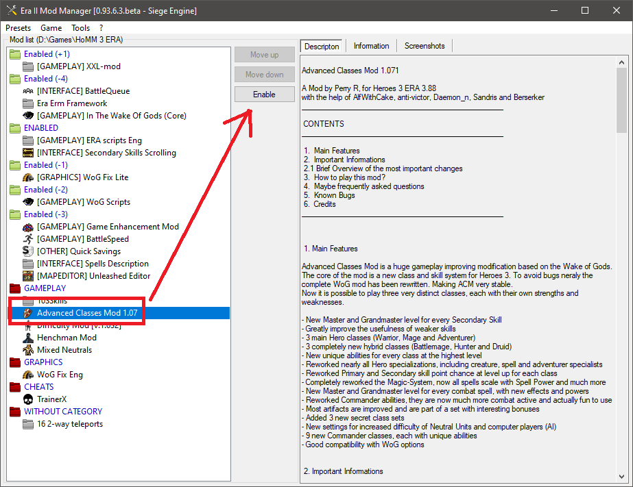 Don't forget to enable the AC modification in Mod Manager.